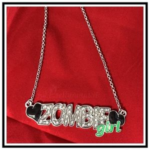 Hot Topic Zombie Girl Necklace